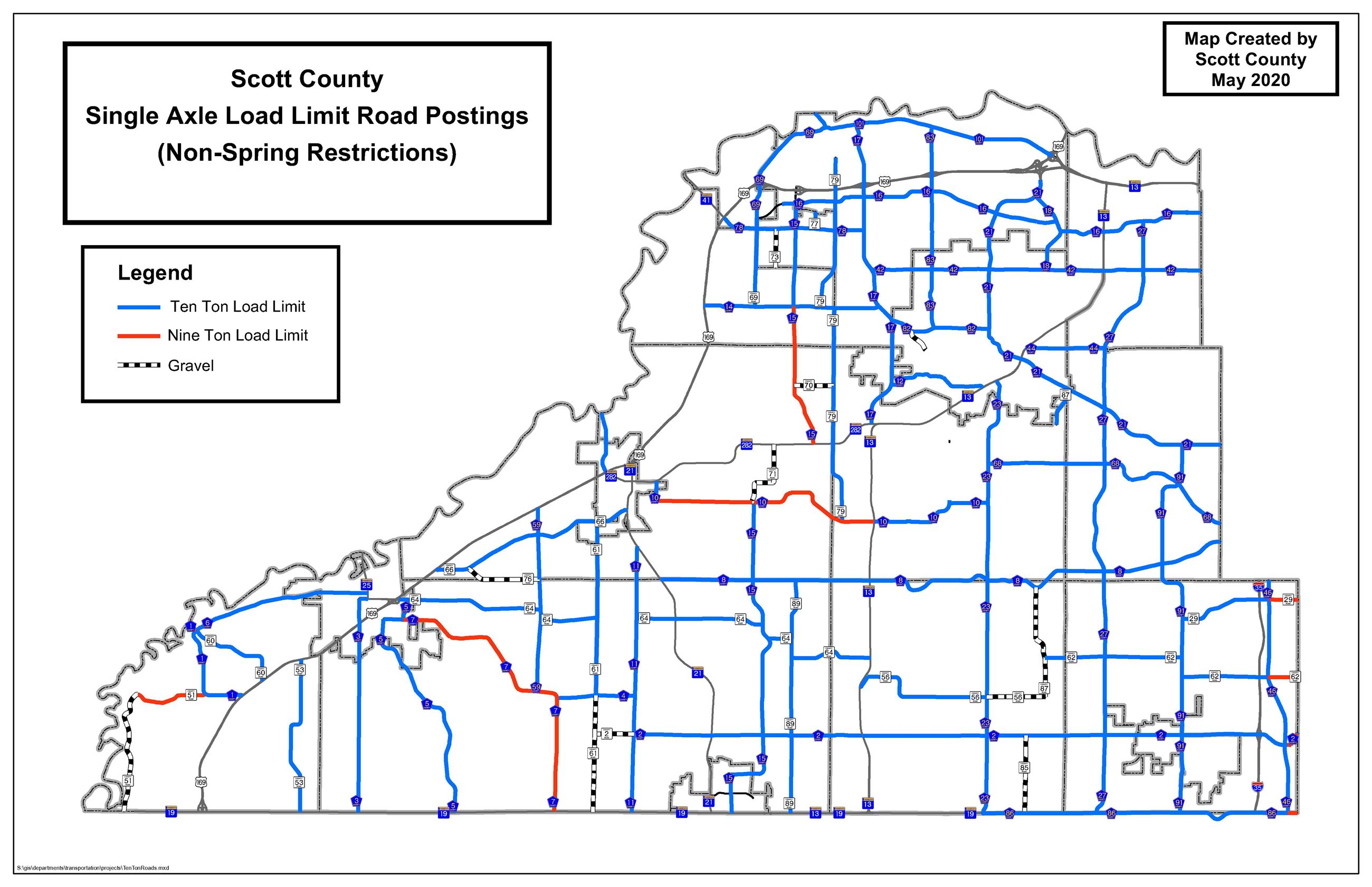 Road Restrictions May  2020