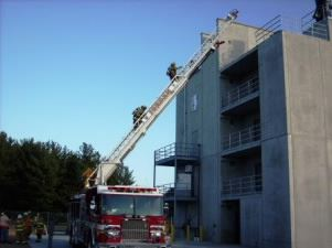 Ladder Truck at the Tactical Burn Tower