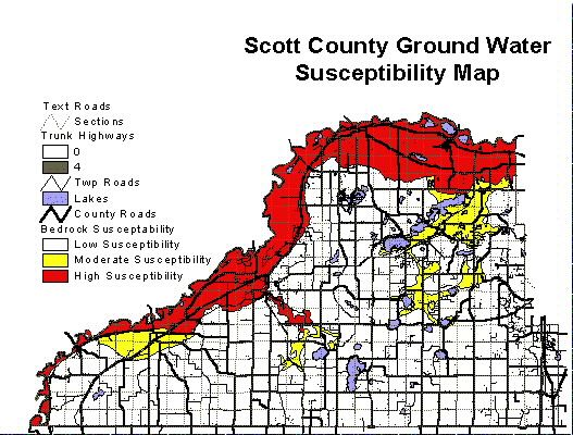Scott County Ground Water Susceptibility Map